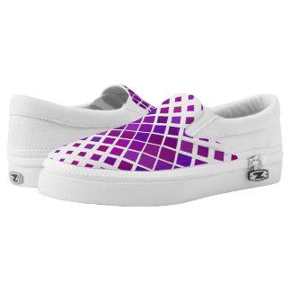 Violet Diamonds Slip-On Sneakers