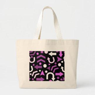 Violet direction pattern large tote bag