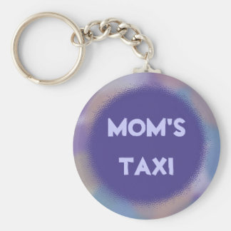 Violet Dots with Personalized Nameplate Basic Round Button Keychain