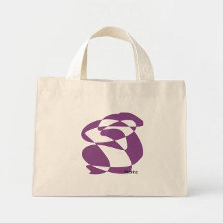 violet emphasis mini tote bag