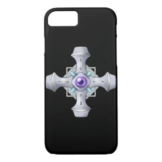 Violet Eyes Fighter Silver Cross iPhone 8/7 Case