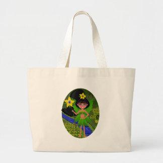 Violet Faery in Field of Flowers Bag