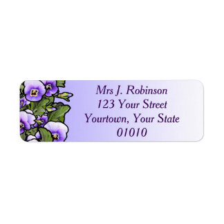 Violet Field Address Label