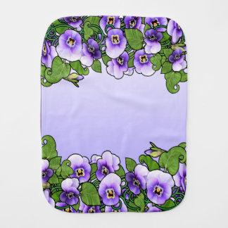 Violet Field Baby Burp Cloth