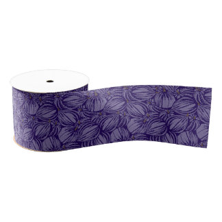 "Violet Figs 3"" Wide Grosgrain Ribbon"
