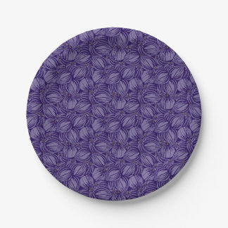 Violet Figs Paper Plates 7 Inch Paper Plate