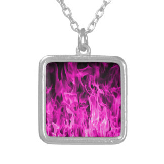 Violet flame and violet fire products and apparel silver plated necklace