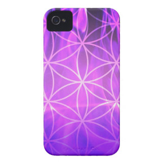 Violet Flame Flower of Life iPhone 4 Cover