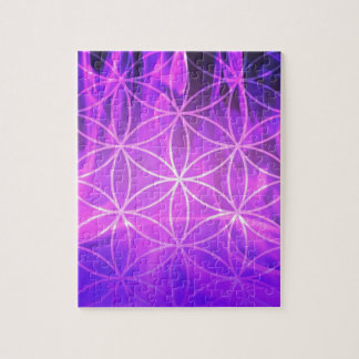 Violet Flame Flower of Life Jigsaw Puzzle