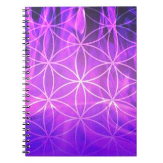 Violet Flame Flower of Life Notebooks