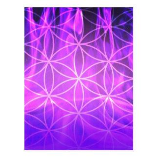 Violet Flame Flower of Life Postcard