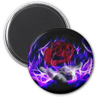 Violet flame rose and Gods hand Magnet