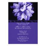 Violet Floral Bloom Bridal Shower Invitation