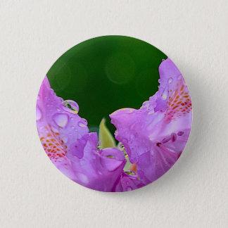 Violet Flower 2 Inch Round Button