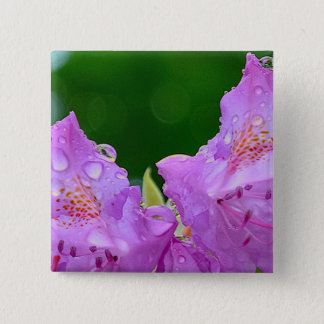 Violet Flower 2 Inch Square Button