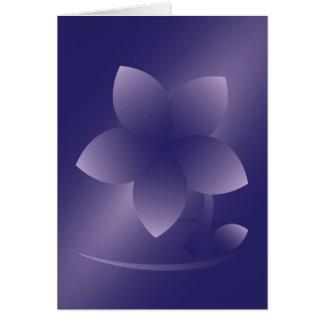 Violet flower card