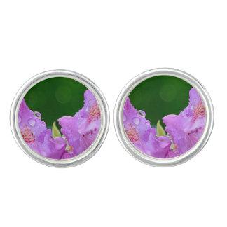 Violet Flower Cuff Links