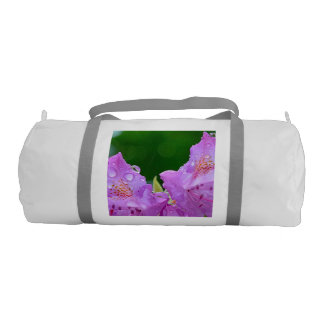 Violet Flower Gym Bag