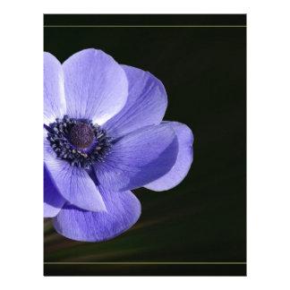 Violet flower letterhead