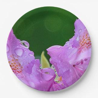Violet Flower Paper Plate