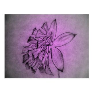 Violet Flower Postcard
