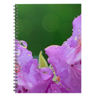 Violet Flower Spiral Notebook