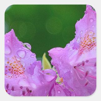 Violet Flower Square Sticker