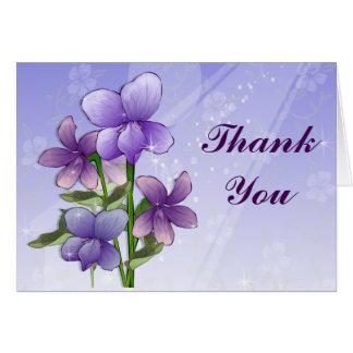 Violet Flower Thank you cards