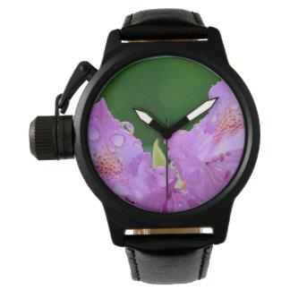 Violet Flower Wrist Watch