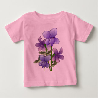 Violet flowers art print baby T-Shirt