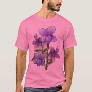 Violet flowers art print T-Shirt
