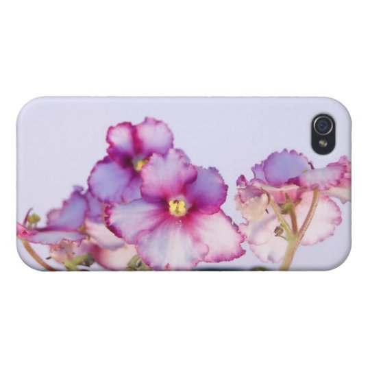 Violet Flowers iPhone 4 Matte Finish Case Cover For iPhone 4