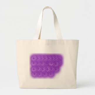 violet flowers large tote bag