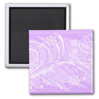 violet flowers magnet