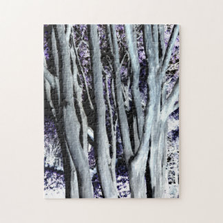 Violet Forest Tree Purple Gray Art Photography Puzzle