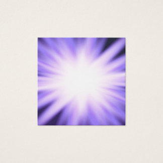 Violet glow light effect square business card