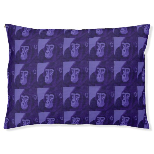 Violet Gorilla Dog Bed