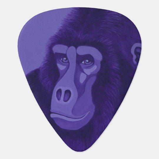 Violet Gorilla Guitar Pick (Dual Sided Image)