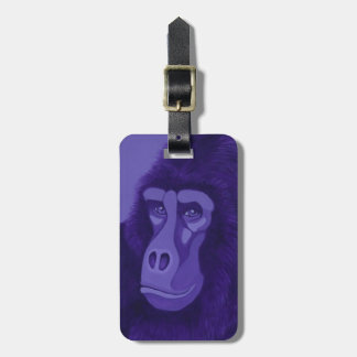 Violet Gorilla Luggage Tag