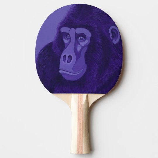 Violet Gorilla Ping Pong Paddle