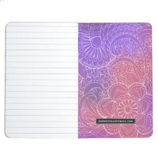 violet gradient zen pattern journal