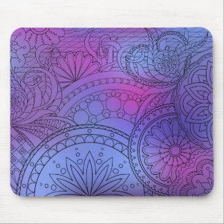 violet gradient zen pattern mouse pad