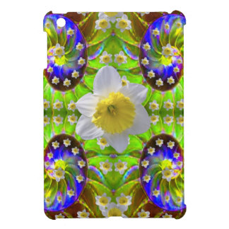 VIOLET GREEN GARDEN  SPIRAL &  DAFFODILS iPad MINI CASES