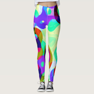 Violet  green spots leggings