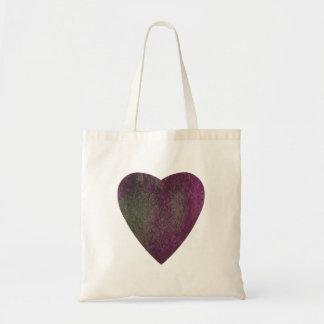 Violet Green Watercolor Heart