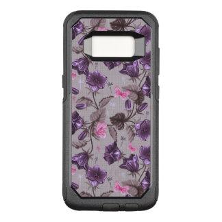 violet hand bells and pink butterflies pattern OtterBox commuter samsung galaxy s8 case