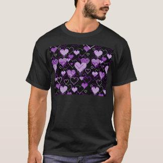 Violet harts pattern T-Shirt