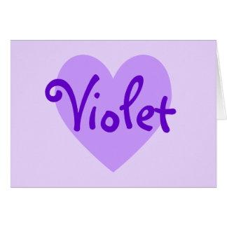 Violet Heart Card