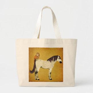 Violet Horse & Owl Bag