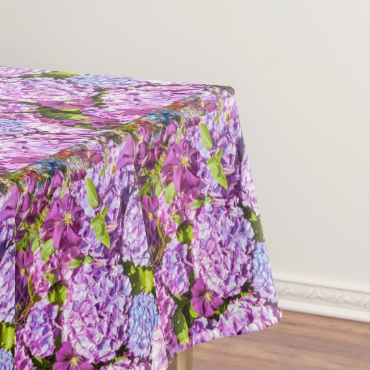 Violet hortensia pretty table cloth tablecloth
